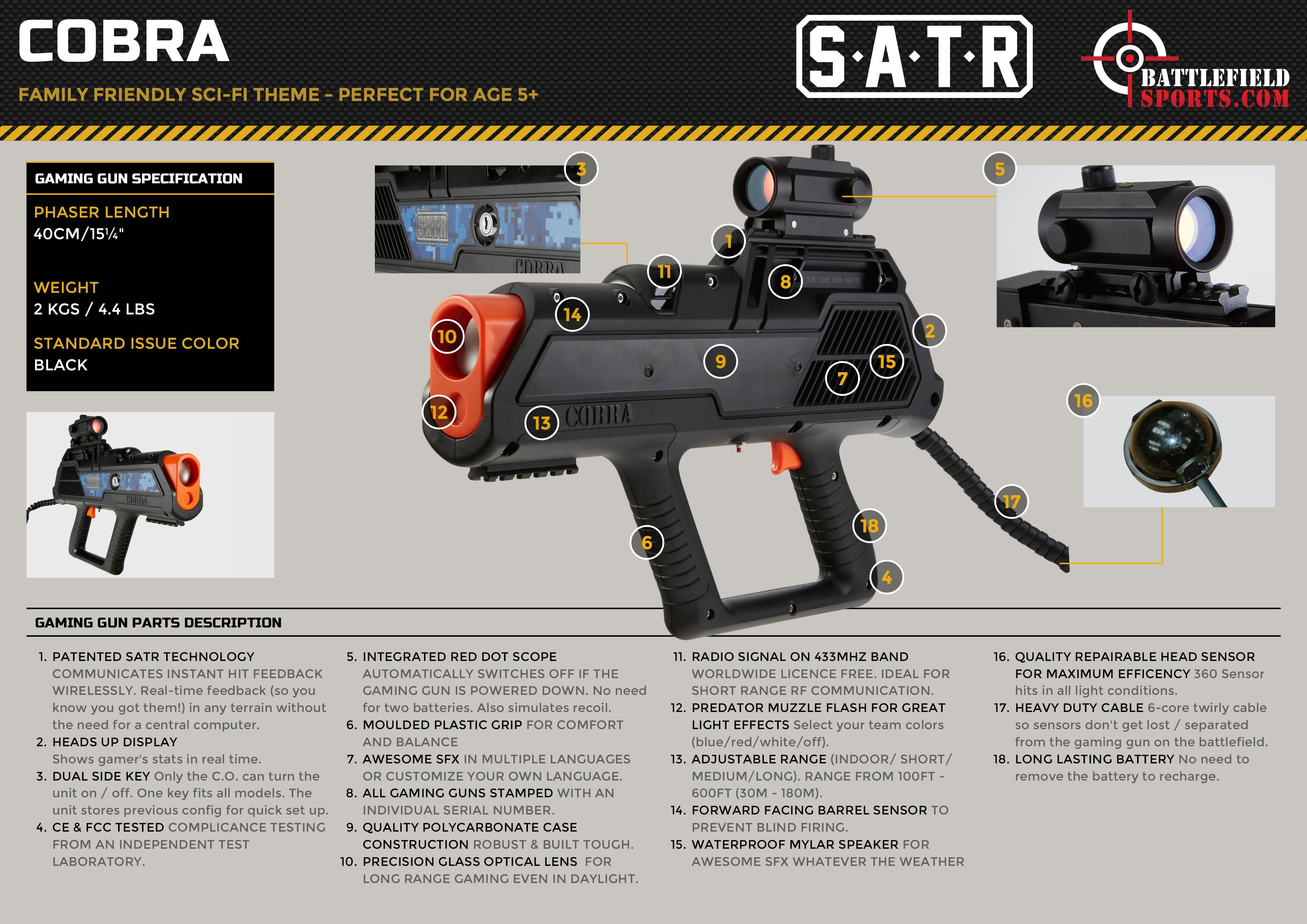 Best Seller 🔥 Cobra Laser Tag Gun From Battlefield Sports
