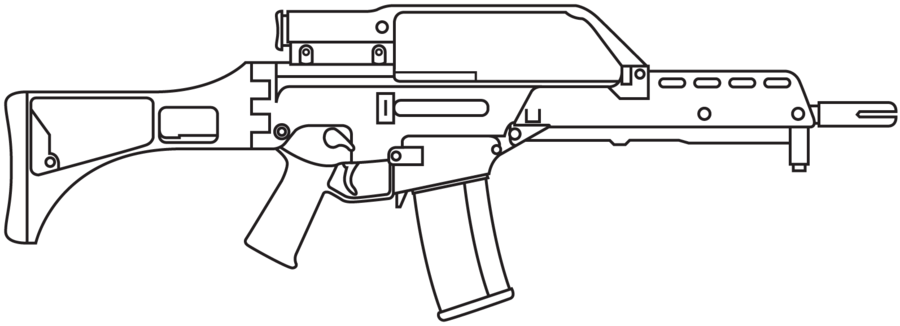 H&K G36 rifle - featured weapon emulation SATR