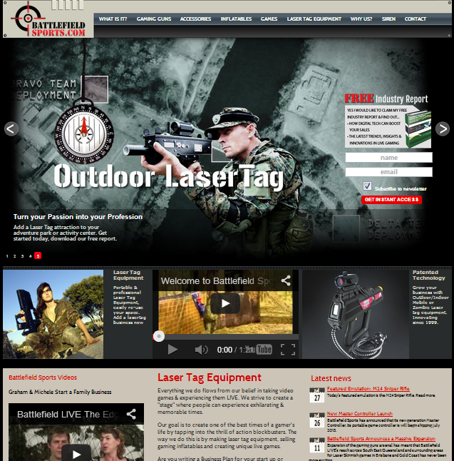 battlefield sports web site