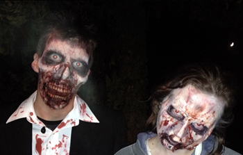 creepy zombies at Battlefield LIVE in Pembrokeshire