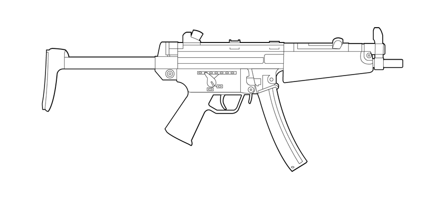 One Line Art Gun : H k mp sub machine gun featured weapon emulation satr