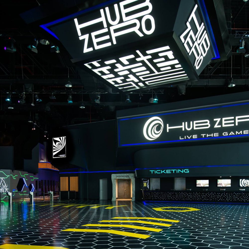 hub zero with laser tag