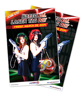 National Laser Tag Day posters