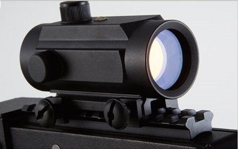 red dot scope offers light hit feedback