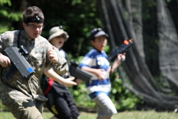 summer camp and laser tag