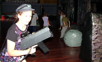 indoor play center with laser tag
