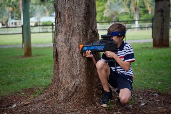 laser tag games at summer camps