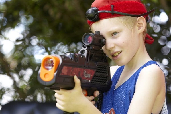 summer camp laser tag