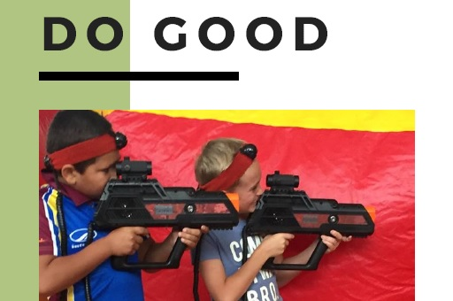 do good with laser tag