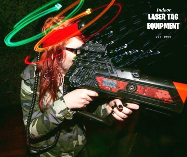 indoor laser tag equipment: Cobra Model (Color Black with Red Decals)