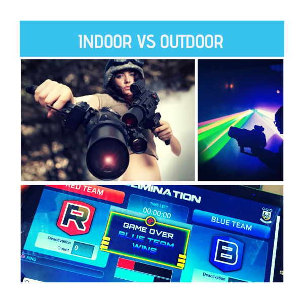 indoor vs outdoor laser tag