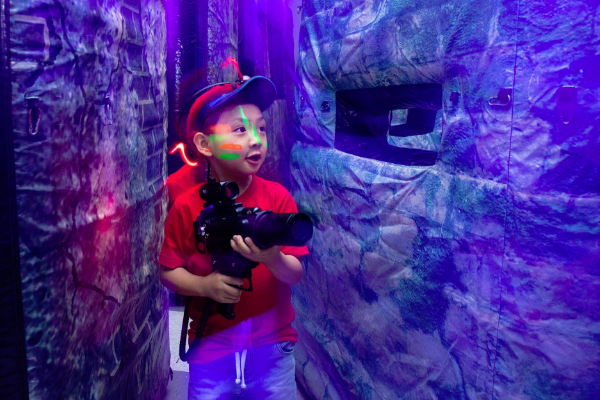 laser tag equipment without a vest