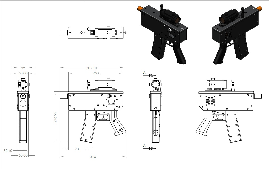 how to make a laser tag gun